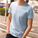 2017의 새로운 보통 까만 면 t-셔츠, 남자를 위한 t-셔츠