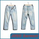 Männer zerstörten helle Wäsche-Jeans (JC3067)