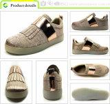 Отдых вскользь ботинок повелительницы Ботинка Тапки Женщины PU зеркала Greenshoe