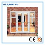 Roomeye PVCハリケーンの影響の家のためのフランスの開き窓のドア