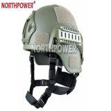 Nvgの台紙および側面柵が付いているMich 2000様式のAchのプラスチック戦術的なヘルメット