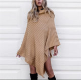 Commerce de gros Stand Poncho Pull Pull col pour les femmes