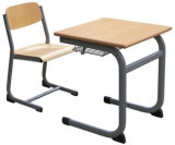学生のための学校家具の高品質の固定単一の机及び椅子