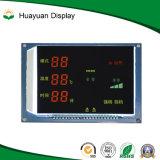Blauwe zeven-Segment het Achtergrond Witte van Symbolen LCD van de Indicator Vertoning