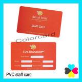 Le personnel de Cr80 Carte PVC standard