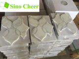 Белое мраморный водоструйное цена плитки мозаики для нутряного украшения