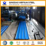 PPGI de acero galvanizado ondulado de color de la placa de techado