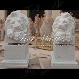 Het Beeldhouwwerk van de Leeuw van Carrara van Metrix voor Huis Decoraton ma-534