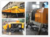 Fabricación de la polea de la bomba eléctrica Cemento entrega portátil (HBT30.8.45S)