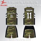 Diseño uniforme del baloncesto de Jersey de la sublimación de Camo