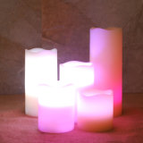 Cera multicolora de la vela, luz multicolora de la vela del LED, vela sin llama del LED