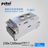 Forno T961 do Reflow do diodo emissor de luz SMT, forno do Reflow de Benchtop, forno de aquecimento do Reflow da zona 6