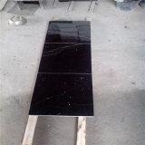 Черный мрамор Marquina с немногими белыми линиями