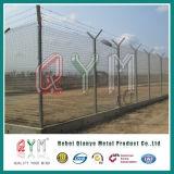 Столб высокого качества y сварил загородку авиапорта обеспеченностью ячеистой сети службы безопасности аэропорта сваренную загородкой