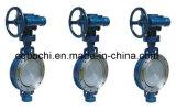 Engrenagem Helicoidal em aço inoxidável Válvula Borboleta vedação metálica