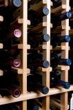 Bck最も新しく旧式で白いPaintting私達赤いカシのワインのキャビネットC-1