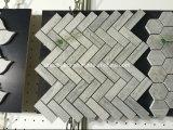 Плиток стрелок нового продукта мозаика белых мраморный мраморный для стены ванной комнаты