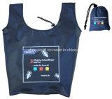 Sacola de dobramento reutilizável personalizada com bolsa de fita mágica
