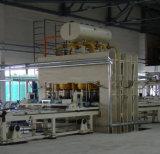 Полуавтоматный краткосрочный цикл прокатывая машину мебели MDF горячую отжимая