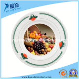 "Green Berry Border 8 ""Rim Plates Sublimation Plaque en céramique"