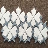 Spezielle Art Thassos weiße Wasserstrahlfliese, Mosaik-Fliese