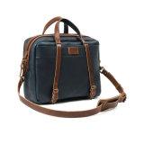 2017 High-end Vintage кожаный портфель темно-синяя кожаные бизнес сумки для мужчин