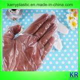 HDPE Wegwerfhandschuhe mit gedrucktem äußerem Beutel