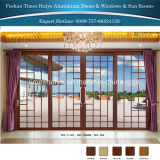티크 색깔 나무로 되는 색깔 알루미늄 안쪽 문 외부 문
