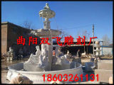 Pierre Blanche fontaine en marbre de jardin