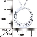 永久に常の本物の925人の純銀製の幸運な円の女性のための吊り下げ式のネックレスの姉妹の友人の宝石類のネックレス