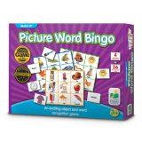 Lecture de mots de l'image de Bingo jeu de puzzle en éducation préscolaire et à la maternelle 36 Photo Cartes Word