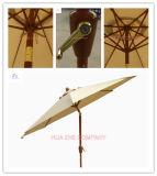 9FT (2.7m) reizbarer Regenschirm mit Neigung-Patio-Regenschirm-Garten-Regenschirm