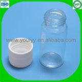 Freie Glasflaschen mit Schutzkappen