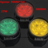 Epistar LED de alta calidad de la luz de trabajo para la carretilla la ronda 3 colores
