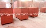 le film de noir de faisceau de peuplier de 18mm a fait face au contre-plaqué de Shandong Linyi