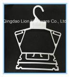 La ceniza de alta calidad perchas de tela de plástico