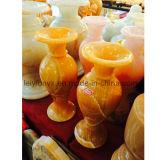 Vase를 위한 중국 깊 노란 Jade Crafts
