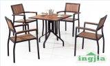 L'extérieur de l'aluminium en bois massif Table de Patio dîner Hotel Set (JT-502)