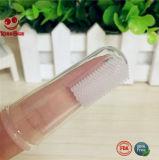 液体のシリコーン指の歯ブラシのマッサージ