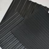 Feuille en caoutchouc antidérapante à finition fine noire pour plancher