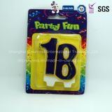Kundenspezifisches Anniversary oder Birthday Number Candle