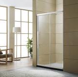 la pantalla de desplazamiento económica una de la puerta del cuarto de baño del recinto de la ducha de la puerta de la ducha de 6m m fijó un sitio de ducha de desplazamiento