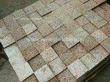 Cobblestone rosso della strada privata del granito di Bushhammered, lastricatori del patio del granito