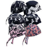 Il marchio su ordine ha stampato il foulard registrabile dell'involucro della testa del Bandana del cranio del panno della rugiada del cotone