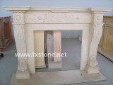 Cheminées en pierre sculptée de marbre Mantel (FX02)