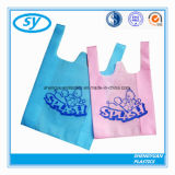 Sac à provisions en plastique de T-shirt coloré de HDPE