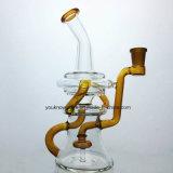 Glasrohr-Recycler-Ölplattform-Wasser-Rohr für Somking Huka-Wasser-Rohr-unbesonnenes Tabak-Trinkwasserbrunnen-Glas-Rohr