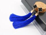 Zwei Entwurfs-Form-die ethnische Frauen-Weinlese-baumeln lange Troddel-Franse Ohrringe
