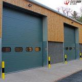 Вид в поперечном разрезе промышленности мостового подъемного механизма безопасности оцинкованные панели двери гаража