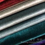 Velluto Polished 100% del poliestere luminoso del tessuto per il sofà